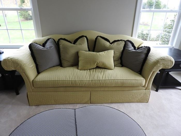 Drexel Heritage Green Fabric Sofa