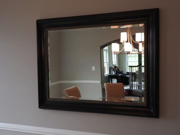 Rectangular Large Black Framed Mirror