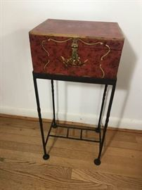 Box and wrought iron stand https://ctbids.com/#!/description/share/137297