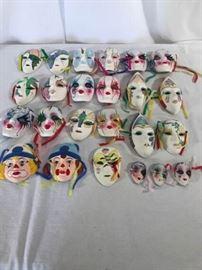 Various Ceramic masks https://ctbids.com/#!/description/share/137309