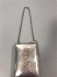 sterling silver engraved purse with chain https://ctbids.com/#!/description/share/137340
