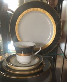 """Service for 12 Noritake """"Opulence"""" China with Many serving pieces"""
