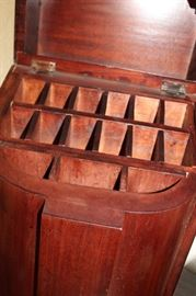 decor antique wooden knife box