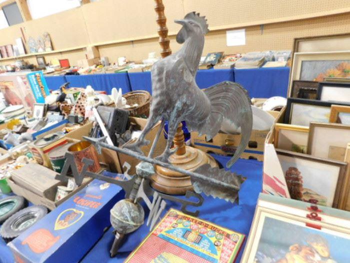 Vintage rooster weather vane