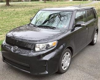 At 8PM: 2011 Toyota Scion xB Hatchback Estate Auto, with 41,317 Miles; 5-Speed Manual Transmission; 2.4 Liter In-line 4-Cylinder Engine; Black Exterior, Black & Gray Sport Cloth Interior; AM/FM Stereo with CD and AUX Input, & Steering Wheel Audio Controls; Remote Keyless Entry, and more!  VIN: JTLZE4FE1B1125934 Vehicle Terms - Vehicles are sold AS IS, in AS FOUND/ESTATE condition. - Minimum of 10% deposit due on day of auction. (Cash, Check, VISA, MC, Debit). - Balance paid in full by Thursday following (Cash or Certified Bank Check ONLY).