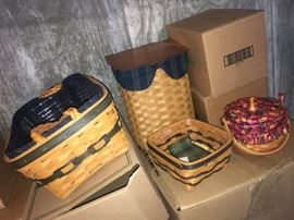 Part of the MASSIVE collection of Longaberger items...baskets and other