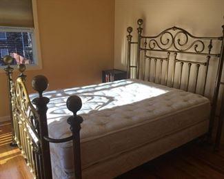Queen brass bed
