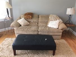 sofa has sold.  ottoman still available.
