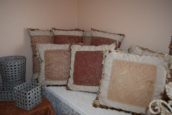 Pillows & Wicker Baskets