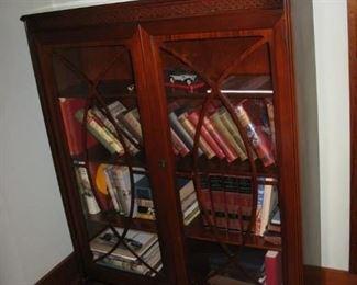 mahogany glass front cabinet