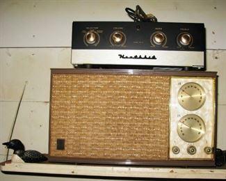 Heathkit vintage amp and old GE radio