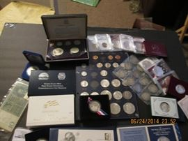 partial type set, barber halves and other misc coins