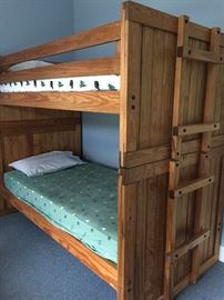 Pair of This End Up bunkbeds and mattresses -- like new!