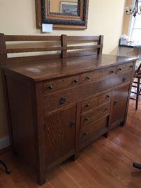 oak sideboard a very good size