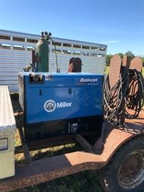 Bobcat welder on the trailer