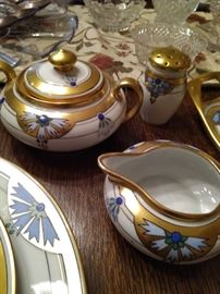 Extremely rare JC Bavaria hand painted fine bone china. Service for 4 with some extra pieces.
