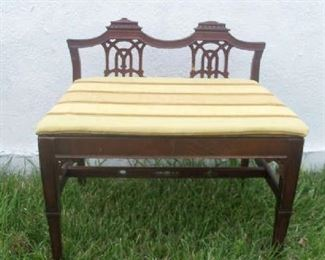 Small Regency style bench.  Great for a space you need a small piece of furniture. Entryway, end of hallway, the foot of the bed, etc.