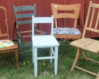 Miscellaneous vintage chairs