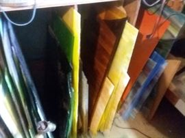 Lots of stained glass supplies!