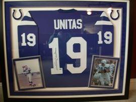 Johnny Unitas  Framed signed Jersey