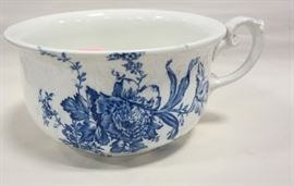 Antique blue chamber pot