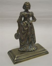 Antique European brass figure