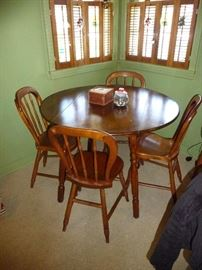 small size dinette with 4 chairs