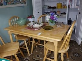 Wood Kitchen Table 4 Chairs