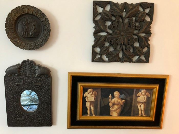 Plaques, Wood Carvings, Mirrors