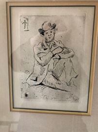 Cezanne Etching