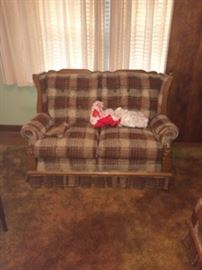 Love seat w/matching chair & sofa.