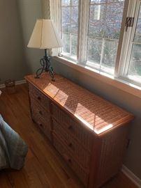 Nice wicker dresser