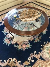 Rounded glass coffee table!