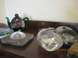 Paperweights.