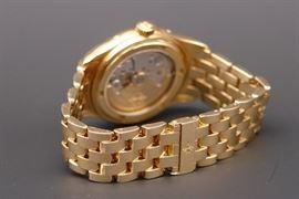 Reverse of 18K Patek Phillippe Calendar Men's Watch with Moon Dial