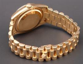 Reverse of 18K Rolex #118205 Presidential Men's Watch