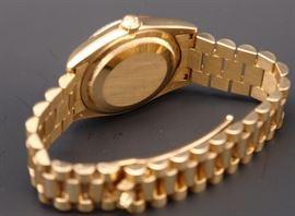 Reverse of 18K Rolex #118338 Presidential Men's Watch with Diamond on Hub
