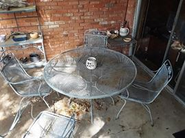 Salterini patio table and chairs