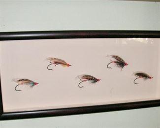 Steve Gobin mounted flies