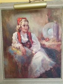 Marilyn Bendell, Portrait of Marily Madden in Norse Costume