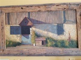 """James Ingwersen, Barn Door, o/b, 24"""" x 18"""""""