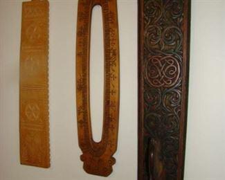 carved wooden mangle board, calendar board, wash board,