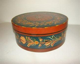 Rosemaling  round lidded box