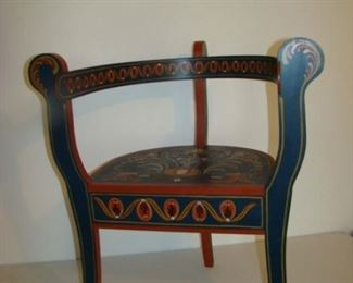 Rosemaling side chair