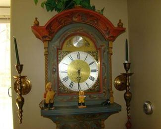 Rosemaling grandfather clock