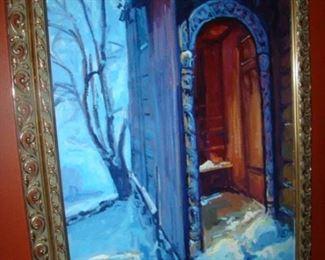 Sigmund Arseth, Blue Doorway, o/c, 1995