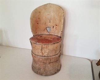 Child's (kubbestol) log cut chair