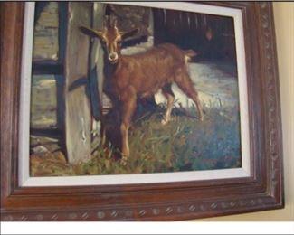 James Ingwersen, Goat in Barn Yard, o/b 24  x 18