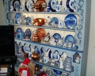 Five shelf rosmaling plate rack