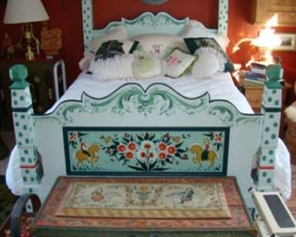 rosemaling bed and trunk
